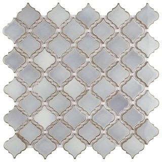 SomerTile 13x13.375-inch Antaeus Grey Eye Porcelain Mosaic Floor and Wall Tile (Case of 10)