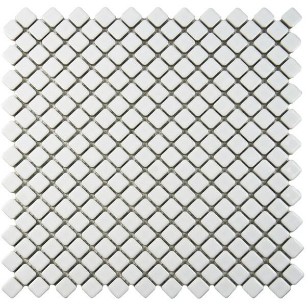 Somertile x jewel glossy white for 10 inch floor tiles