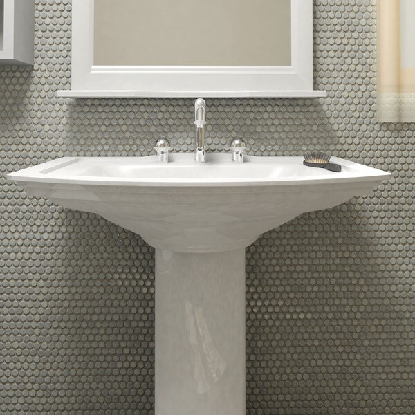 somertile 12 x penny grey eye porcelain mosaic For10 Inch Floor Tiles