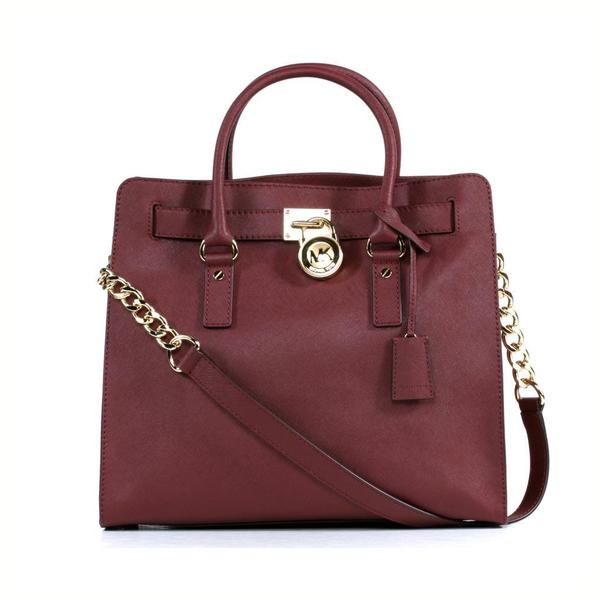 New Zealand Michael Kors Hamilton Totes - Clothing Shoes Michael Michael Kors Hamilton Large Claret North South Tote 9812442 Product