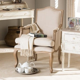 Nivernais Wood Traditional French Accent Chair