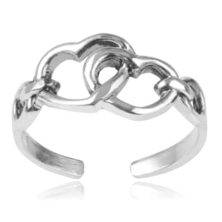 Journee Collection Sterling Silver Heart Toe Ring