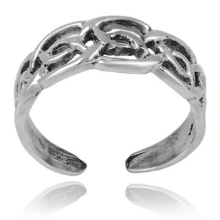 Journee Collection Sterling Silver 5.8mm Celtic Toe Ring