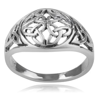 Journee Collection Sterling Silver Celtic Knot Ring