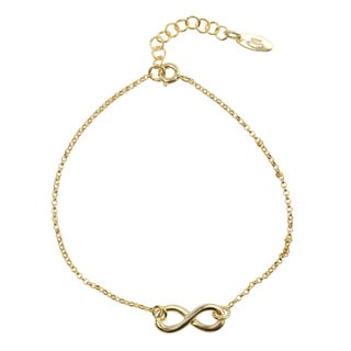 Journee Collection Sterling Silver Infinity Bracelet
