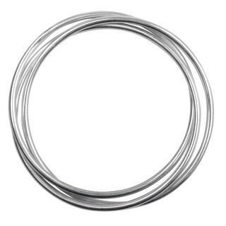 Journee Collection Sterling Silver Interlocking Bangle Bracelets