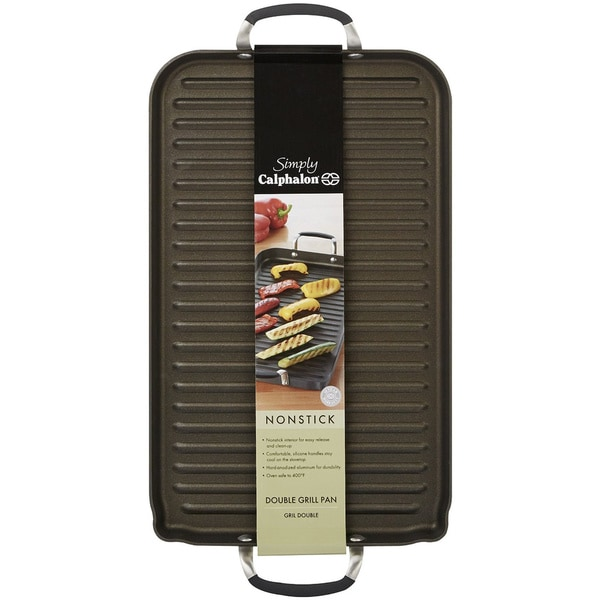 Simply Calphalon Non-stick Double Grill Pan
