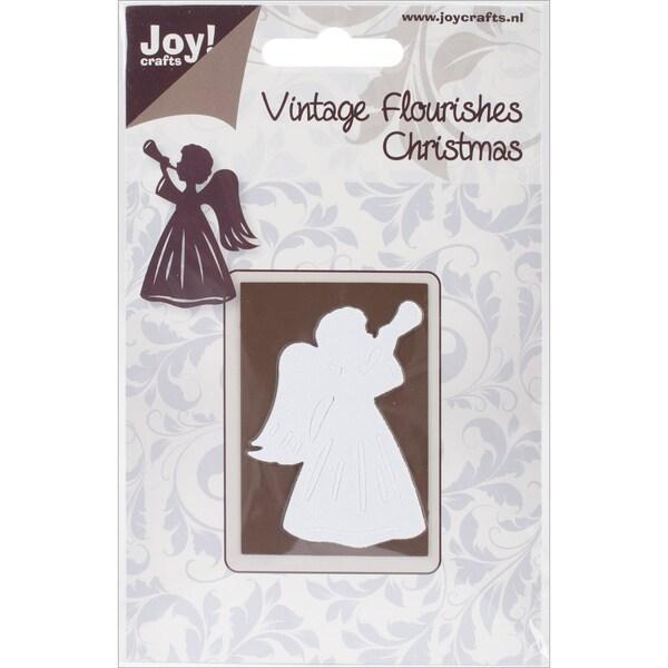 Joy! Crafts Cutting Die-Vintage Flourishes/Angel With Trumpet