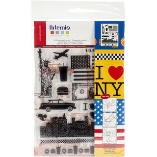 "Artemio Clear Stamps 5.9""X8.7""-New York"