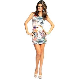 Sara Boo Women's Beautiful Print Sleeveless Dress