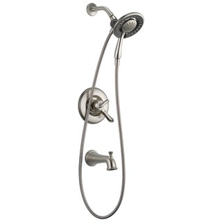 Delta Brilliance Stainless Linden Monitor (R) 17 Series Tub and Shower With In2Ition (R) Two In One Shower