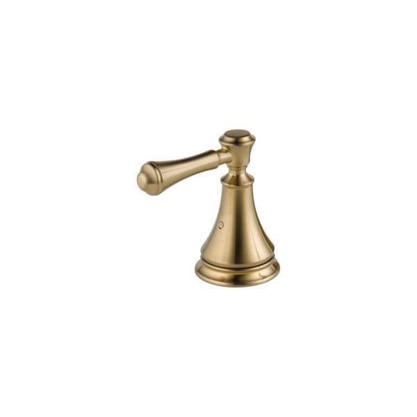This tub handle kit features a champagne bronze finish with brass construction for lasting durability.