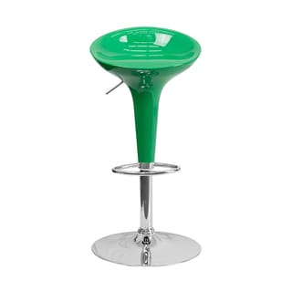 Offex Contemporary Green Plastic Bar Stool