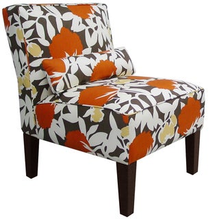 Skyline Furniture Armless Chair in Peony Autumn