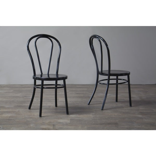 Baxton Studio Saxony Industrial Metal Dining Chairs Set Of 2