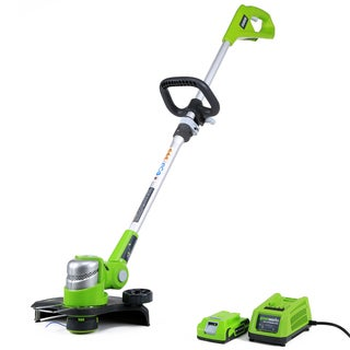 GreenWorks G-24 24V 12-inch Cordless String Trimmer with 2Ah Battery and Charger