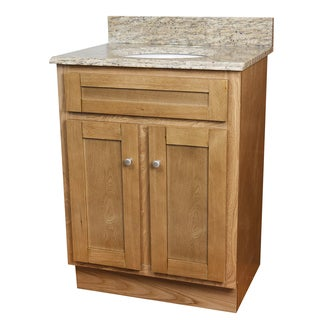 Giallo Cecilia Granite Top Shaker Oak Single Sink Vanity