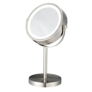LED Nickel-plated Lighted Cosmetic Mirror