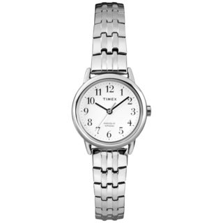 Timex Women's T2P297 Easy Reader Silvertone Expansion Band Dress Watch
