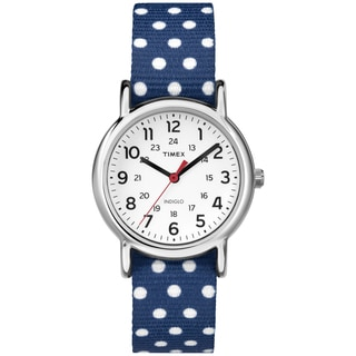 Timex Women's Weekender Reversible Navy Slip-Thru Nylon Strap Watch