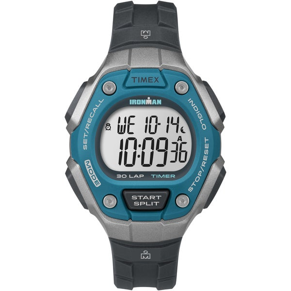 Timex Women's Ironman Classic 30 Blue/Silver-Tone/Black Watch