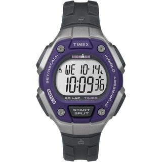 Timex TW5K895009J Women's Ironman Classic 30 Purple/Silver-Tone/Black Watch