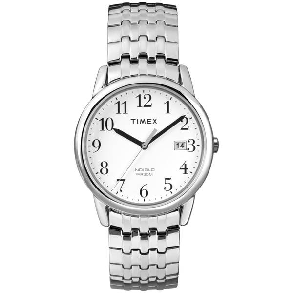Timex Men's T2P294 Easy Reader Silver-Tone Expansion Band Dress Watch