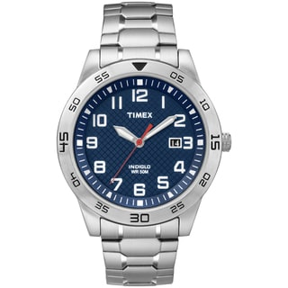 Timex Men's TW2P61500 Blue Dial Stainless Steel Expansion Band Watch