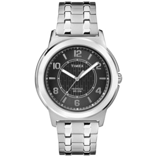 Timex Men's TW2P61800 Black Dial Stainless Steel Expansion Band Watch