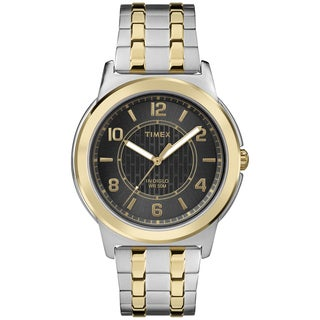 Timex Men's TW2P61900 Black Dial Two-tone Stainless Steel Expansion Watch