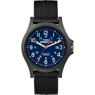 Timex Men's TW4999900 Expedition Acadia Blue/Black Black Fabric Strap Watch