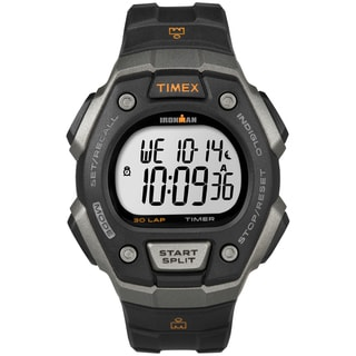 Timex Men's T5K821 Ironman Classic 30 Black/ Orange Watch
