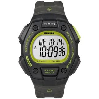 Timex Men's T5K824 Ironman Classic 30 Black/Green Watch