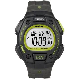 Timex Men's Ironman Classic 30 Full-Size Digital Sports Watch (Black/Green)