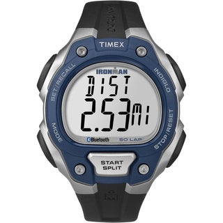 Timex Men's TW5K86600 Ironman Classic 50 Move+ Blue/ Silvertone Watch