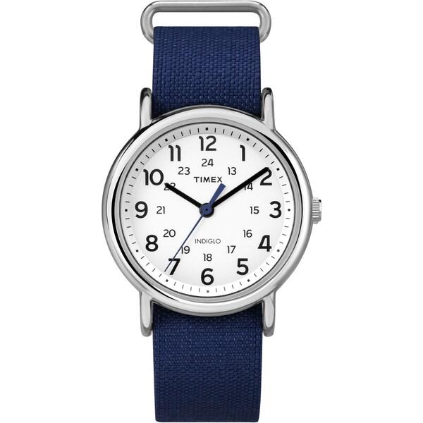 Timex Unisex Weekender Navy Nylon Strap Watch