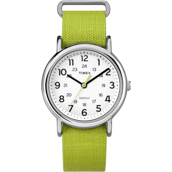 Timex Unisex Weekender Lime Green Nylon Strap Watch