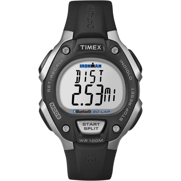 Timex Unisex Ironman Classic 50 Black/ Silvertone Watch