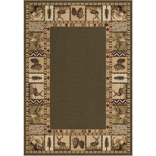 "Oxford Collection High Country Sycamore Olefin Area Rug (3'11"" x 5'5"")"