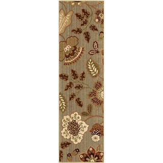 "Anthology Collection Cimarron Blue Green Olefin Area Rug (2'3"" x 8')"