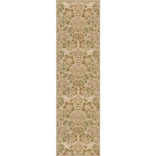 """Indoor/ Outdoor Four Seasons Collection Benton Bisque Olefin Area Rug (2'3"""" x 8')"""