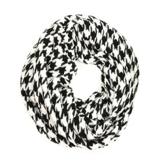 Le Nom Women's Classic Houndtooth Infinity Scarf