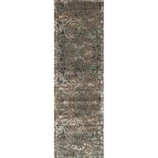 Emerson Dark Taupe/ Multi Runner Rug (2'4 x 7'9)