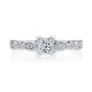14k White Gold 3/4ct TDW Vintage Diamond Engagement Ring (H-I, I1-I2)