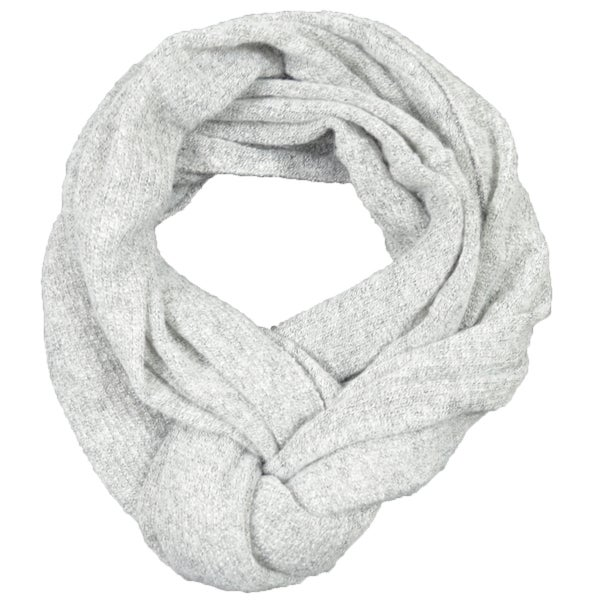 LA77 Grey Super Soft Marled Knit Infinity Scarf