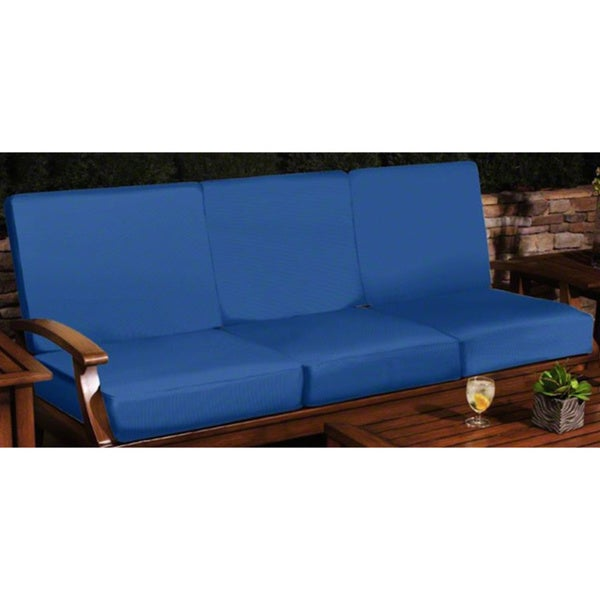 Sunbrella 72 inch Capri Blue Universal Patio Furniture Sofa Cushions Overst