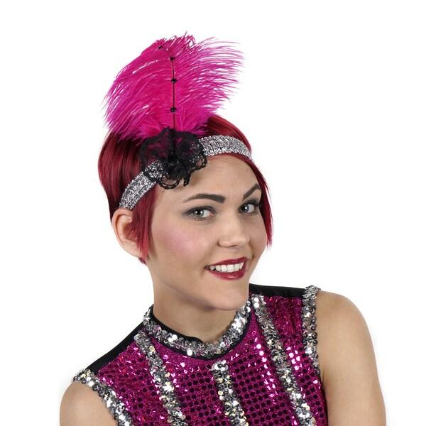 Ostrich Flapper Headband