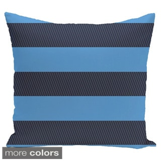 Contrasting Stripes 16-inch Square Decorative Pillow