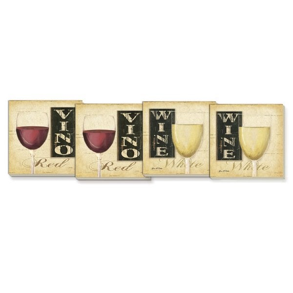 Red/ White Wine Absorbent Stone Coaster (Set of 4)