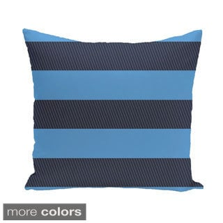 Contrasting Stripes 18-inch Square Decorative Pillow